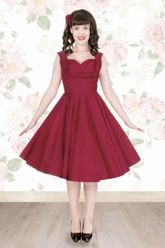 50s Orphelia Swing Dress in Red