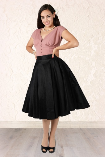 3cd4bff92f Collectif Clothing Bella Occasion Swing Skirt Black 14394 1