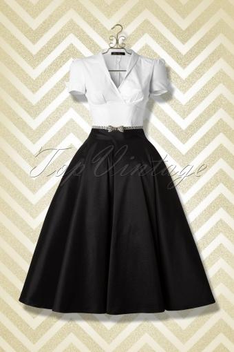 f8fc8c79c4 Collectif Clothing Bella Occasion Swing Skirt Black 14394 TopVintage Combi  FB