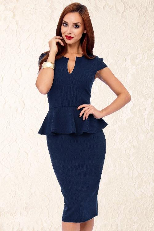 Vintage Chic Two Tone Navy Black Dress 100 31 14238 2