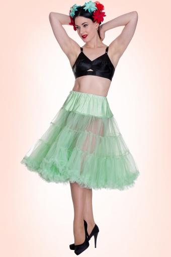 Bunny 50s retro Petticoat chiffon Mint Green 10988