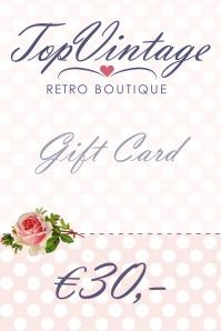 Gift card € 30