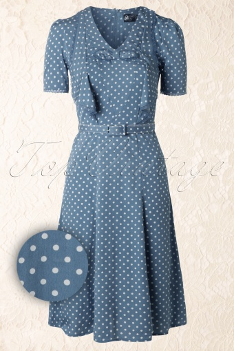 Bunny Jennifer Blue Polkadot Dress 106 39 12030 20140414 0008WV