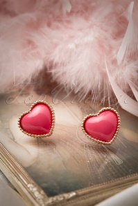 60s Love Is In The Ear-Rings in Pink