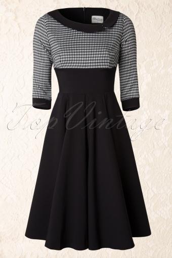 The Pretty Dress Company Black Houndstooth Mistress Dress 102 10 14572 20141103 0012W