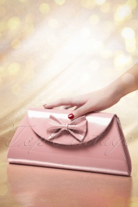 50s Stella Lacquer Bow Bag in Blush