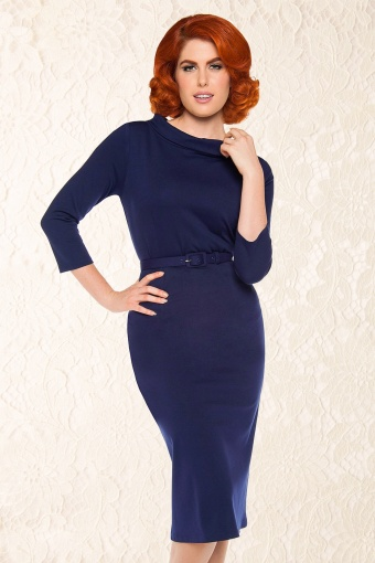Pinup Couture Joanie Dress Navy 10806 1