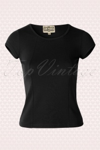 50s Alice Plain T-Shirt in Black
