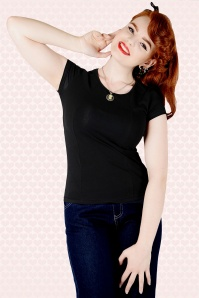 Collectif Clothing Alice Top Black 111 20 14388 Model