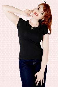 Collectif Clothing Alice Top Black 111 20 14388 Model