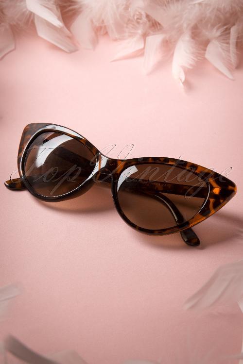 lunettes de soleil fenella cat eye sunglasses ann es 50 en cailles de tortue. Black Bedroom Furniture Sets. Home Design Ideas