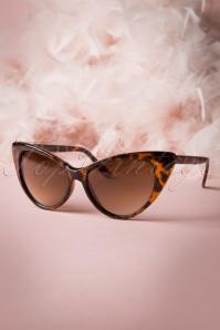 Lunettes de soleil Fenella Cat Eye Sunglasses Années 50 en Écailles de tortue