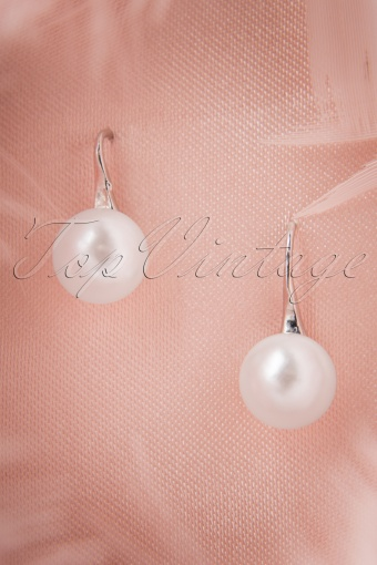 From Paris With Love Posh Pearl Silver Earrings 335 50 10364 20141111 0012W