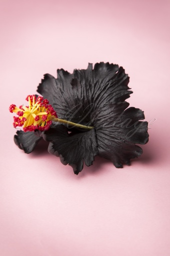 Miss Candyfloss Ema Lou Black Hibiscus Hairclip 200 10 11241 20141115 0001W