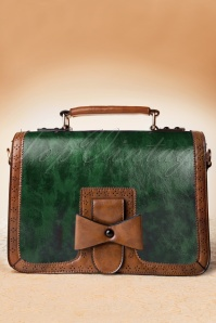 50s Antique Handbag in Green