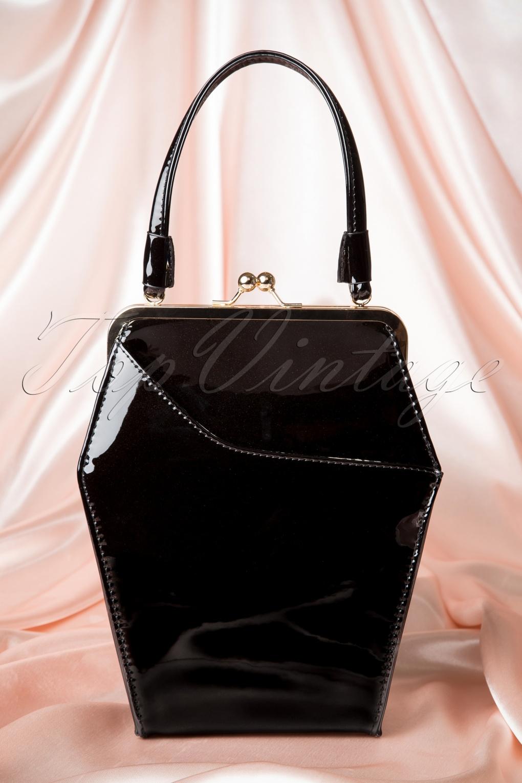 1950s Handbags, Purses, and Evening Bag Styles 50s To Die For Handbag In Black £60.27 AT vintagedancer.com
