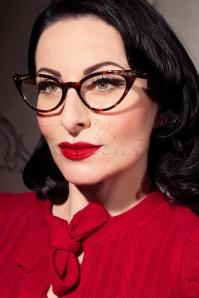 Geek Chique Fenelle Cat Eye Glasses Années 1950 en Écailles de tortue