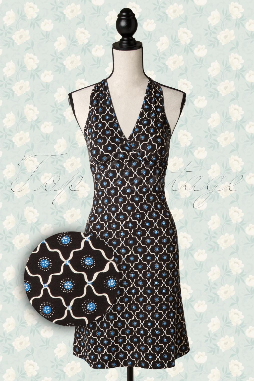 60s Savvy T Back Dress In Black