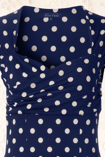 polkadot jurk blauw