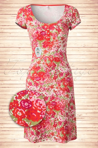Blutsgeschwister  Hello Every Day Floral Red Dress  101 27 13743 20150123 0005W3
