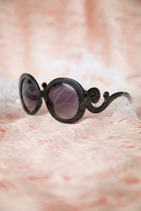 So Retro Baroque Swirl Arms Sunglasses Black 260 10 10082 20141222 031w