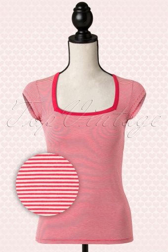 King Louie  Square Red Striped Top  110 27 13816 20150121 0007pop2