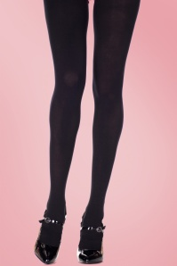 Lovely Legs Classy Black Queen Size Tights 11595 01