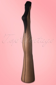 Music Legs  Sheer Backseam Panty Black 171 10 11590 20131120 0002W