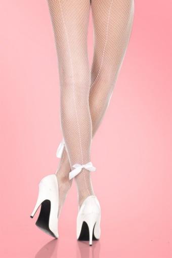 Lovely Legs  Backseam White Bow  171 50 11600 20131209 1