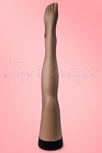 Cette 1950s Bahama Fine Fishnet Hold up Stockings 01