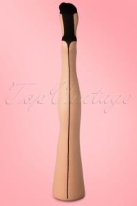 Classic Beige Seamer Tights with Black seam