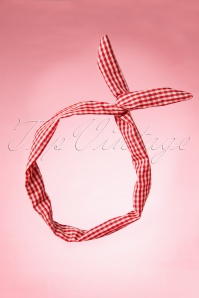 50s Roxy Gingham Pinup Hair Scarf