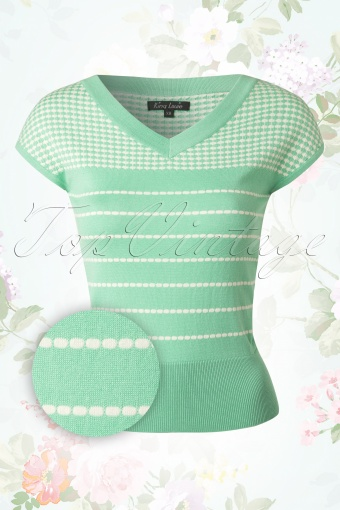 King Louie Deep V Top Mint Green 110 49 13848 20141229 0004WV