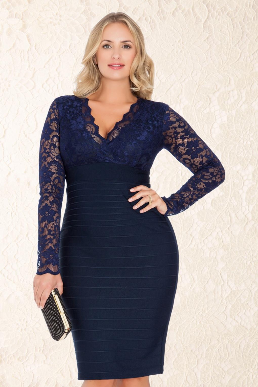 chique blauwe jurk