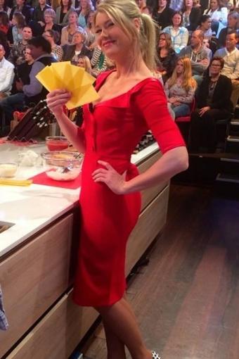 60s Shirt Dress Red