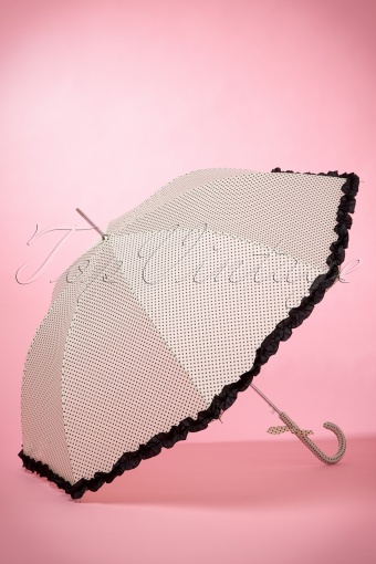 So Rainy White Polkadot Umbrella 270 59 14872 02042015 04W