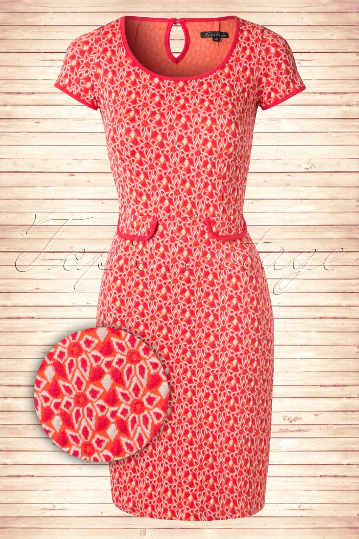 king louie jurk rood