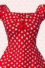 Collectif Clothing Dolores Red Polkadot Swing Dress 10244 1V