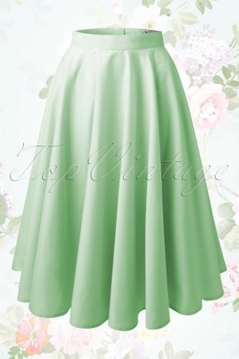 Bunny Paula 50s Skirt Green 122 40 14650 20150117 08W