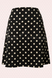 King Louie  Border Skirt Polkadot Black 123 14 12270 20140115 0004W