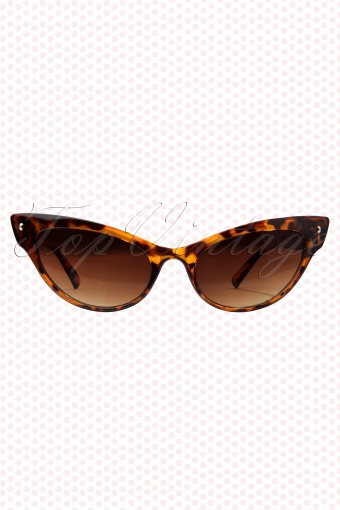 So Retro 50s Venice Beach Cat Eye Glasses Tortoise 10080 (2)