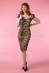 Collectif clothing Dolores Leopard Pencil Dress 100 79 14959 02242015Vanessa 238W