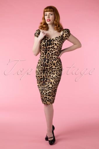Collectif clothing Dolores Leopard Pencil Dress 100 79 14959 02242015Vanessa 238W