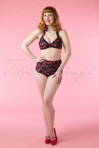Esther Williams Swimwear classic fifties bikini Cherry Black 10383 02242015Vanessa 581W