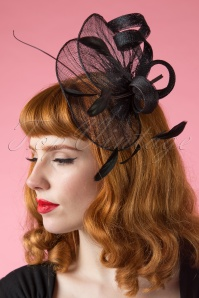 40s Julia Black Infinity Bow Fascinator