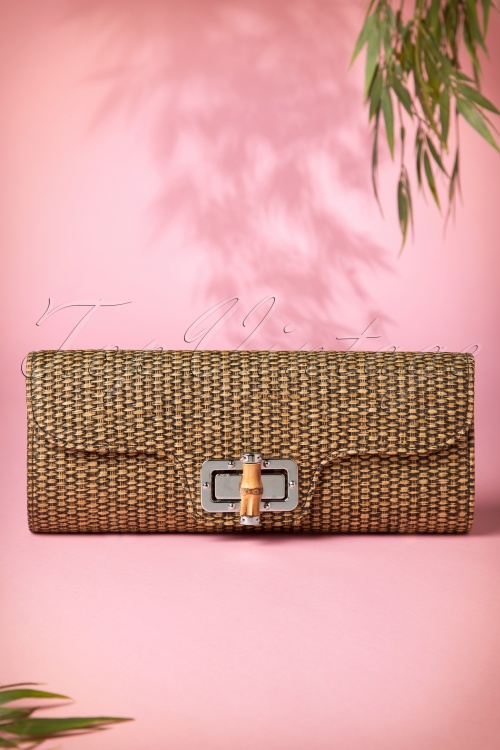 Collectif Clorhing 50s Bamboo Clutch 210 70 10237 01312015 03W