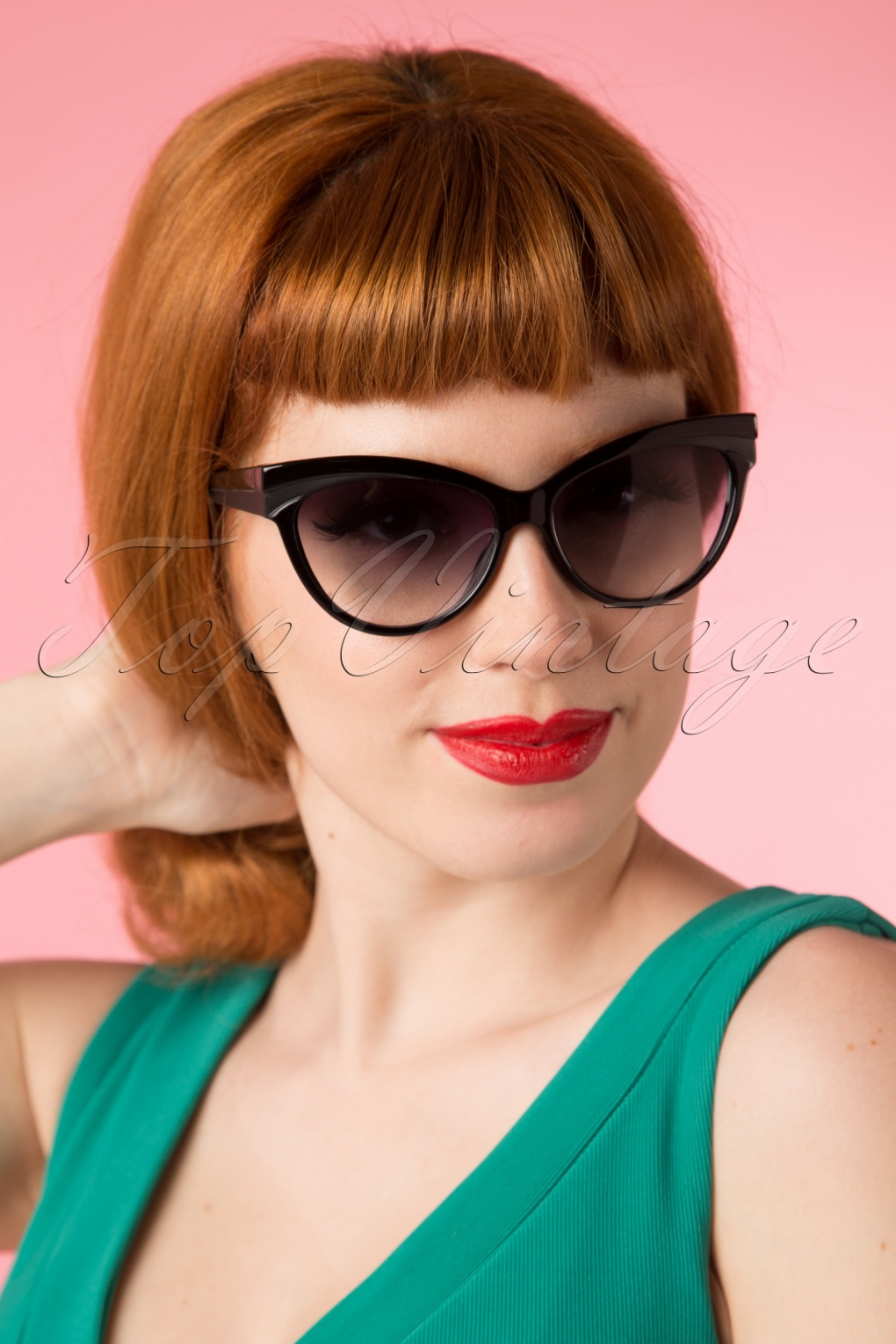 1950s Sunglasses & Eyeglasses Frames Judy Classic 50s Sunglasses in Black £13.60 AT vintagedancer.com