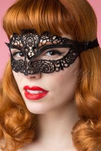 20s Madame Vivien Black Victorian Mask