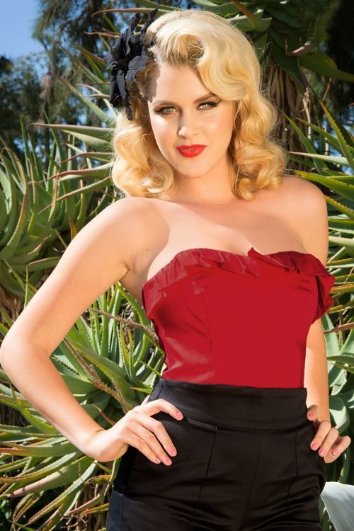 Pinup Couture 50s Red Bustier Top 110 20 15380 3