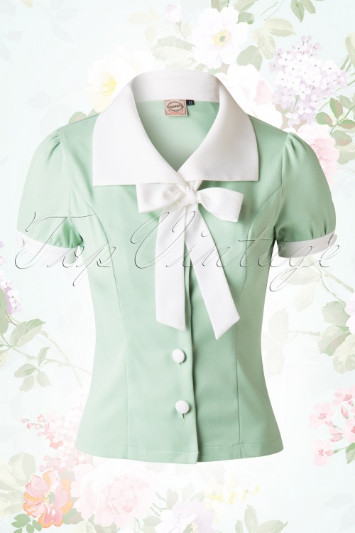 Banned Green Bow Blouse 112 40 15122 1W